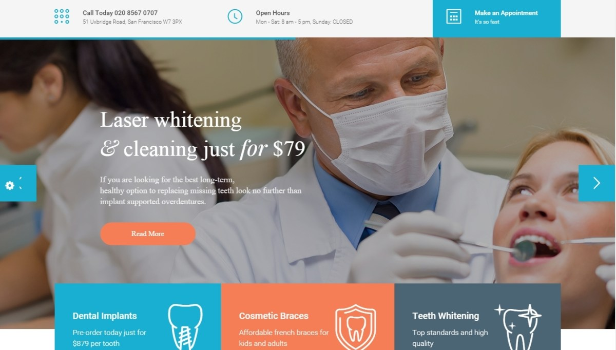 Best WordPress Dentist and Dental Clinic Themes 2016